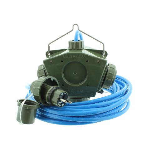 Stromverteiler KALLE Aquasafe Delta-Box SCHUKO IP68 EXTREME BUND 10 Meter