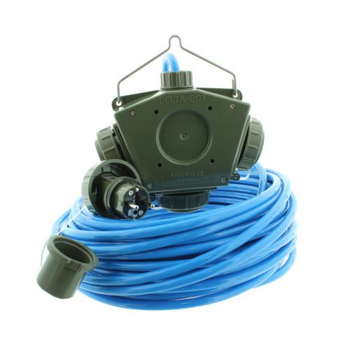 Stromverteiler KALLE Aquasafe Delta-Box SCHUKO IP68 EXTREME BUND 50 Meter