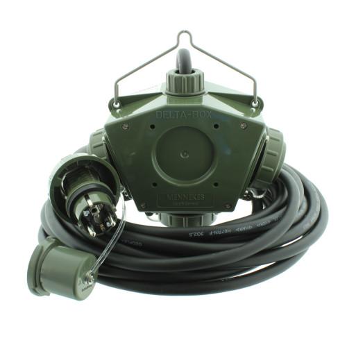 Stromverteiler KALLE Aquasafe Delta-Box SCHUKO IP68 BUND