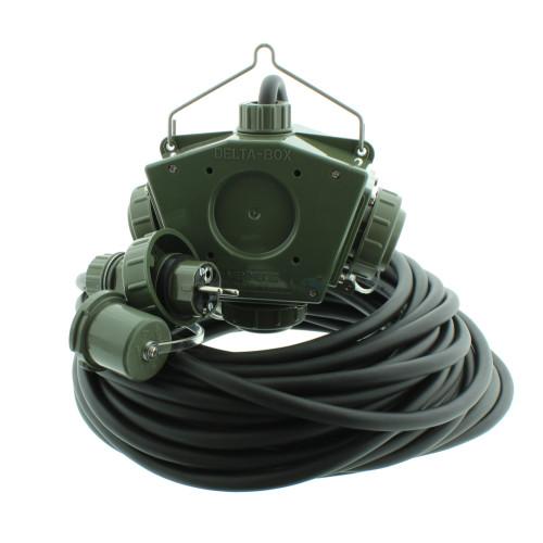 Stromverteiler KALLE Aquasafe Delta-Box SCHUKO IP68 BUND 25 Meter