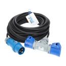 CEE Verlängerung KALLE Blue mit 2-fach-Kupplung 3G 2,5mm² 5 Meter