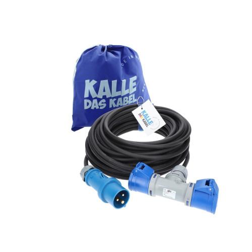 CEE Verlängerung KALLE Blue mit 2-fach-Kupplung 3G 2,5mm² 50 Meter