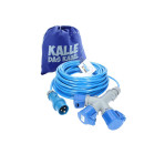CEE Verlängerung KALLE Blue EXTREME 2,5mm² mit 3-fach-Kupplung 25 Meter