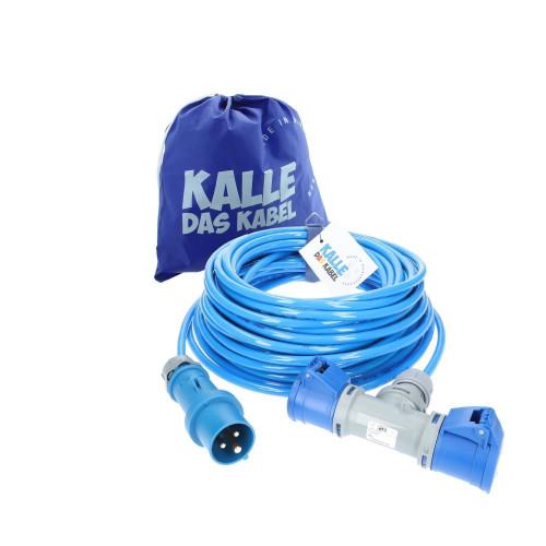 CEE Verlängerung KALLE Blue EXTREME 2,5mm² mit 2-fach-Kupplung 25 Meter
